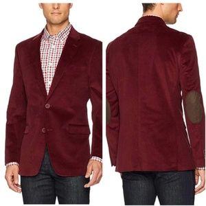Tommy Hilfiger Men's Red Corduroy Sportcoat Pocket